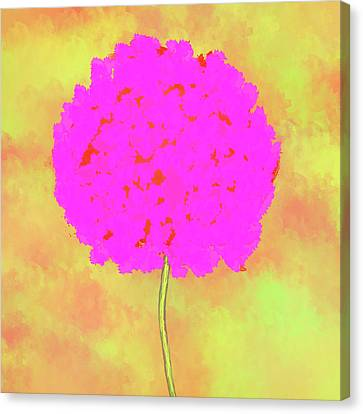 Flower On Yellow Canvas Print by Skip Nall