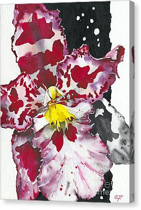 Canvas Print featuring the painting Flower Orchid 11 Elena Yakubovich by Elena Yakubovich