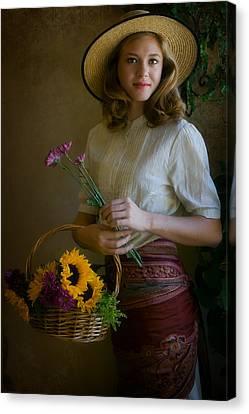 Flower Peddler Canvas Print
