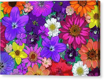 Flower Pond Canvas Print by JQ Licensing