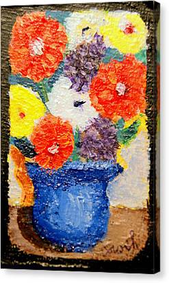 Flower Pot Canvas Print