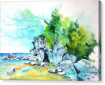 Flower Pot Island Canvas Print