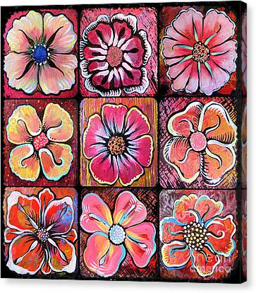 Flower Power Montage Canvas Print by Shadia Derbyshire