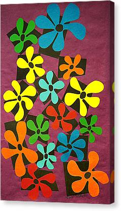 Flower Power Canvas Print by Teddy Campagna