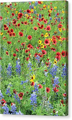 Flower Quilt Canvas Print