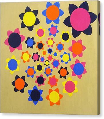 Flower Shower Canvas Print by Oliver Johnston