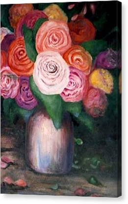 Flower Spirals Canvas Print by Jordana Sands