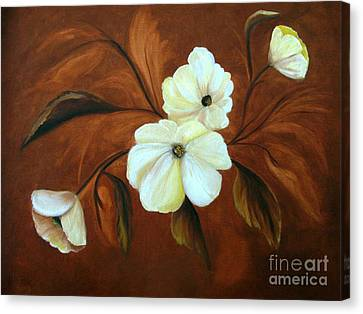 Flower Study Canvas Print by Carol Sweetwood