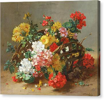 Flower Study Canvas Print by Eugene Henri Cauchois