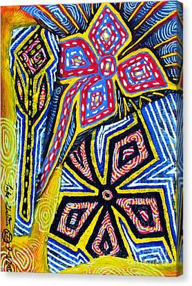 Flower Study Canvas Print by Luke Galutia