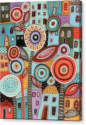 Flower Town1 Canvas Print