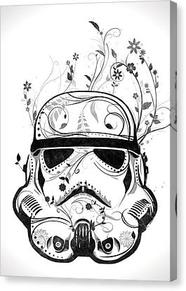 Stars Canvas Print - Flower Trooper by Nicklas Gustafsson
