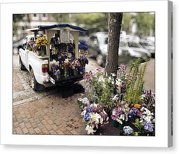 Flower Truck On Nantucket Canvas Print by Tammy Wetzel
