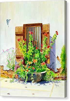 Flower Tub Canvas Print by Karen Fleschler