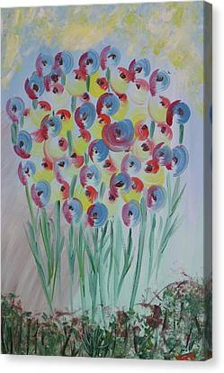 Canvas Print featuring the painting Flower Twists by Barbara Yearty