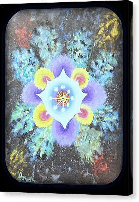 Floral Vortex Canvas Print