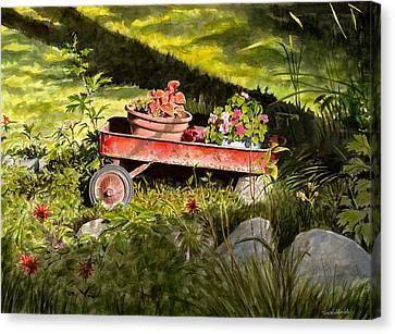 Flower Wagon Canvas Print by Tom Hedderich