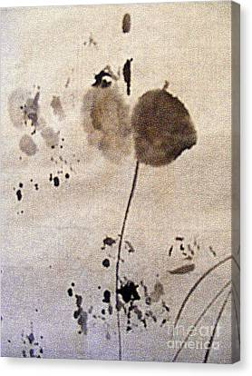 Flower With Leaf Canvas Print by Nancy Kane Chapman