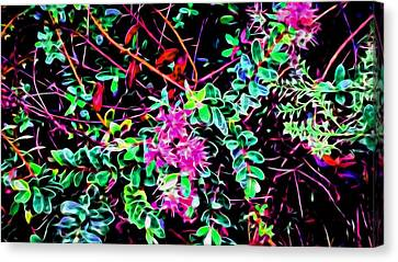 Flowering In Abstract 5 Canvas Print