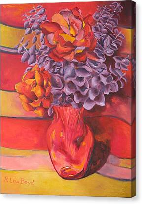 Flowering Orange Canvas Print by Lisa Boyd
