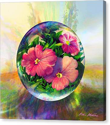 Canvas Print featuring the painting Flowering Panopticon by Robin Moline
