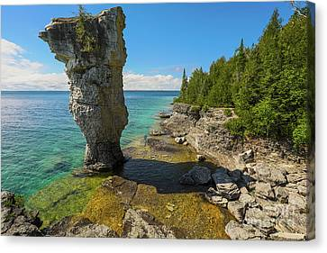 Flowerpot Island - Ontario Canada Canvas Print