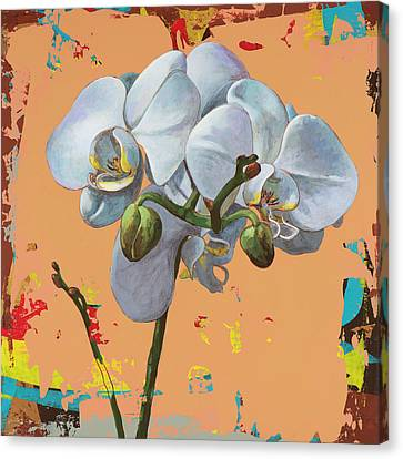 Canvas Print featuring the painting Flowers #12 by David Palmer