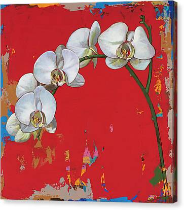 Canvas Print featuring the painting Flowers #14 by David Palmer