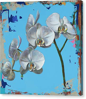 Canvas Print featuring the painting Flowers #15 by David Palmer