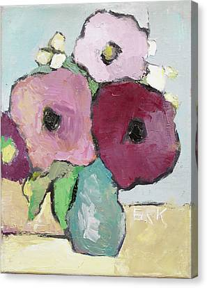 Pallet Knife Canvas Print - Flowers 1601 by Becky Kim