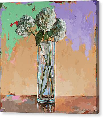 Canvas Print featuring the painting Flowers #20 by David Palmer