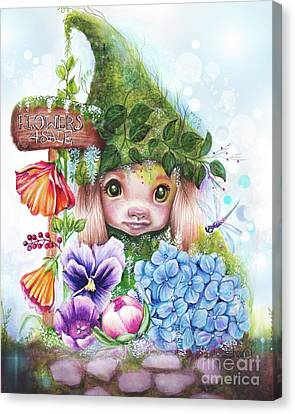 Flowers 4 Sale - Garden Whimzies Collection Canvas Print