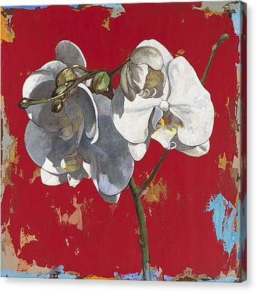 Canvas Print featuring the painting Flowers #6 by David Palmer