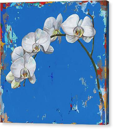 Canvas Print featuring the painting Flowers #9 by David Palmer