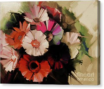 Flowers Abstract Painting 5501 Canvas Print by Gull G
