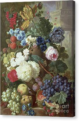 Bunch Of Grapes Canvas Print - Flowers And Fruit by Jan Van Os