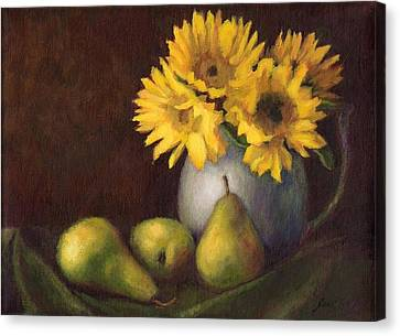 Flowers And Fruit Canvas Print by Janet King