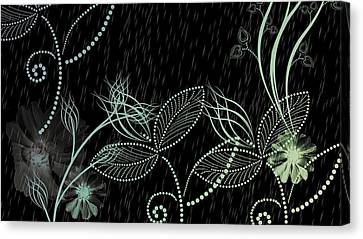 Flowers And Rain Canvas Print