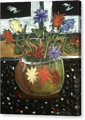 Flowers Canvas Print by Artists With Autism Inc