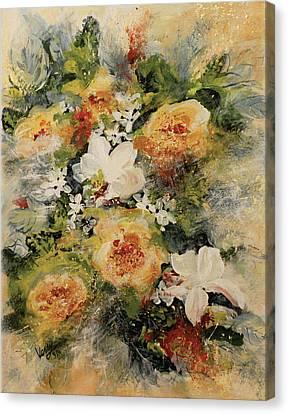 Flowers Bouquet Impression Canvas Print by Venetka Arsenov
