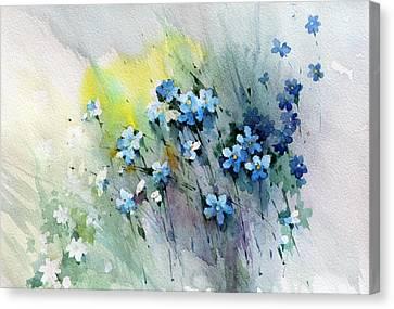 Flowers Fantasy Canvas Print by Natalia Eremeyeva Duarte