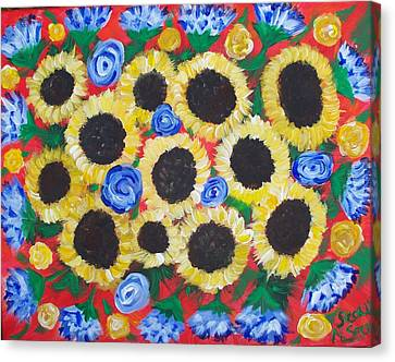 Flowers For Daddy Canvas Print by Seaux-N-Seau Soileau