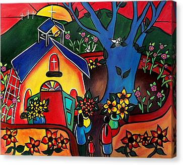 Flowers For The Church #2 Canvas Print