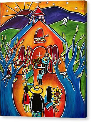 Flowers For The Church Canvas Print