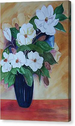 Flowers For The Table Canvas Print by Audrey Bunchkowski
