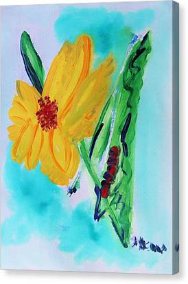 Flowers From Eden 1 Canvas Print by Mary Carol Williams