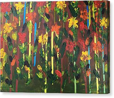 Pallet Knife Canvas Print - Flowers Galore by Sue Dowdall