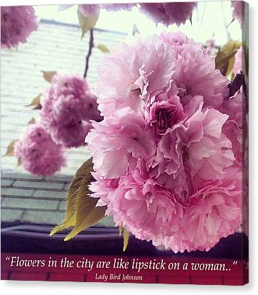Flowers In The City Canvas Print by Katelyn Rose
