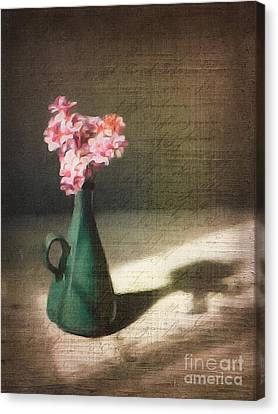 Flowers In Vase Still Life Canvas Print by Amy Cicconi