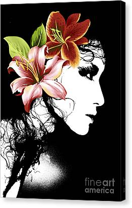 Flowers It Is My Lady Canvas Print